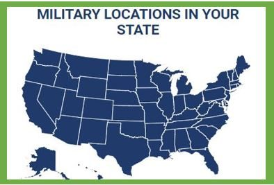 Military Location in the United States map