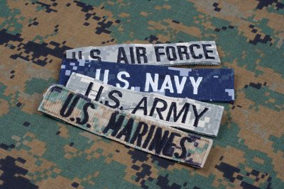 Patches from military branches under DOD