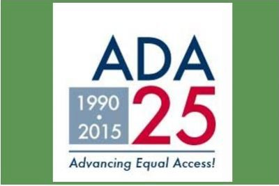 American with Disabilities Act Logo 25 year anniversary