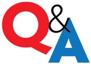 A large letter q and a large letter A with an ampersand between, symbolizing a question and answer format