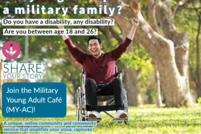 image of promotional flyer for Military Young Adult Cafe