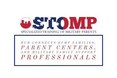 Logo of STOMP HUB- Facebook Group :HUB connects EFMP families, Parent Centers, and MIlitary Family Support Professionals